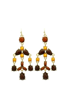 Mimi's Gift Gallery Brown Chandelier Earrings - Product List Image