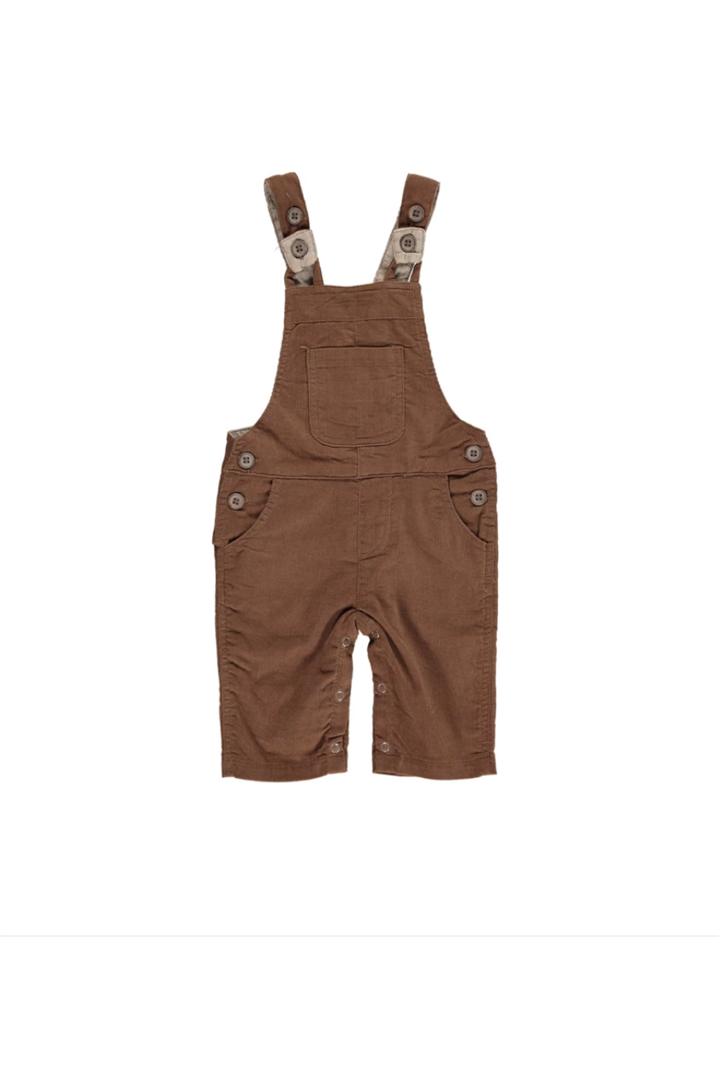Me & Henry Brown Cord Overalls - Main Image