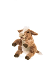 Folkmanis Brown Cow Puppet - Front cropped