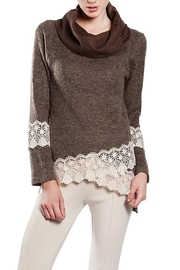 The Vintage Valet Brown Cowlneck Sweater - Front full body