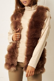 frontrow Brown Faux-Fur Gilet - Product Mini Image
