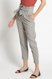 Sans Souci Brown Houndstooth Pants - Front full body