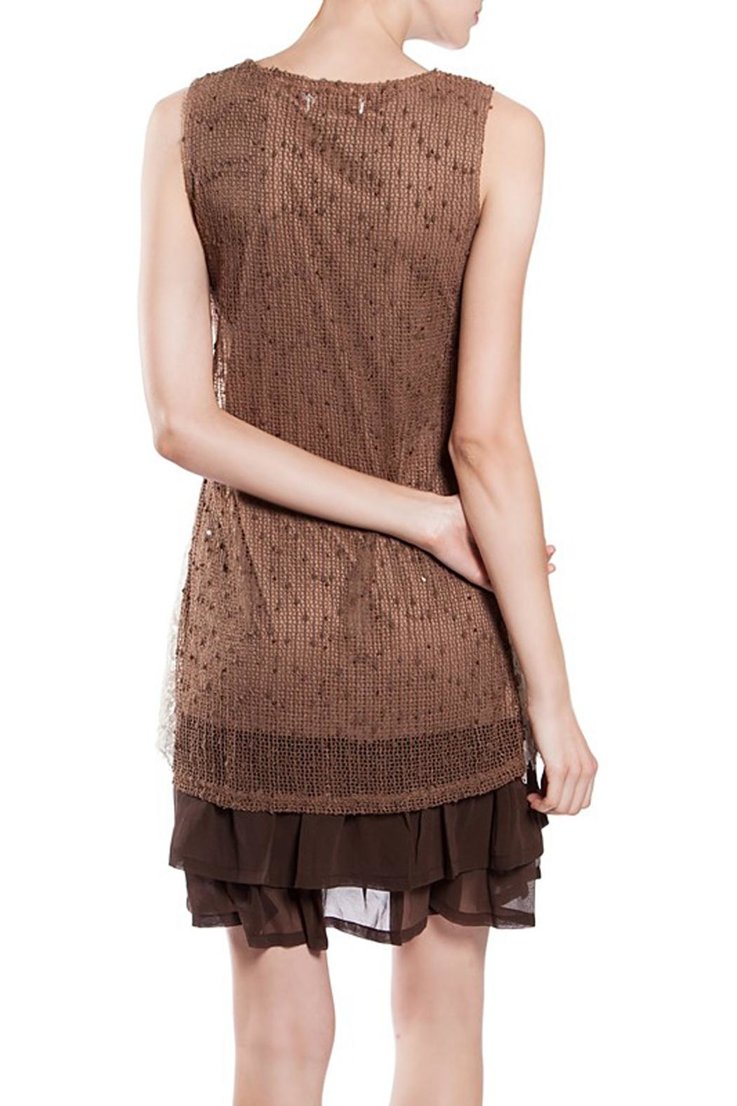 The Vintage Valet Brown Lace Dress - Front Full Image