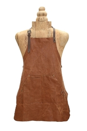 Myra Bags Brown Leather Apron - Product Mini Image
