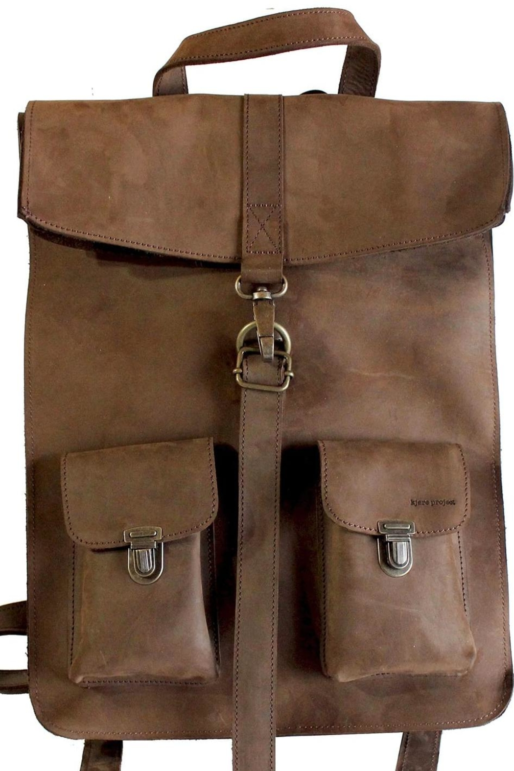kjore project Brown Leather Backpack - Main Image