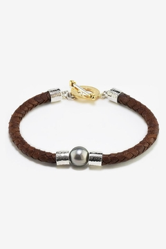 Eduardo Sanchez Brown Leather Bracelet - Product List Image