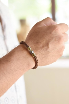 Eduardo Sanchez Brown Leather Bracelet - Alternate List Image