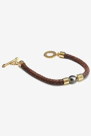 Eduardo Sanchez Brown Leather Bracelet - Product Mini Image