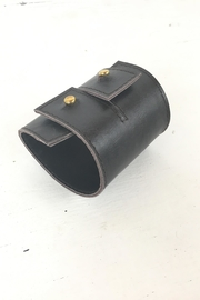 Ndiginus Brown Leather Cuff - Front full body