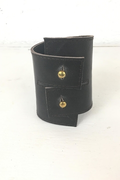 Shoptiques Product: Brown Leather Cuff