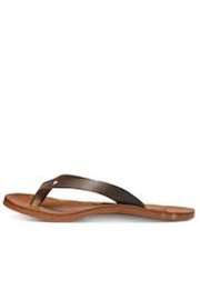 Beeko Brown Leather Sandals - Front cropped
