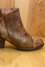 Spring Step  Brown multi bootie - Back cropped