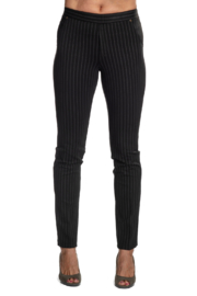 INSIGHT NYC Brown Pinstripe Scuba Pant - Product Mini Image