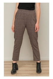 Polly & Esther Brown Plaid Trousers - Product Mini Image