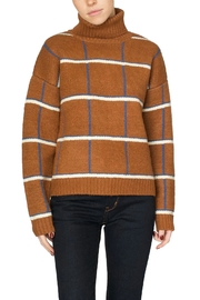 J.O.A. Brown Plaid Turtleneck - Product Mini Image