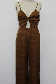 Emory Park Brown Printed Jumpsuit - Product Mini Image