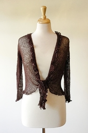 Scarborough Fair Brown Ruffle Cardigan - Product Mini Image