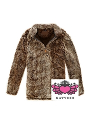 KATYDID Brown Sherpa Pullover - Front cropped