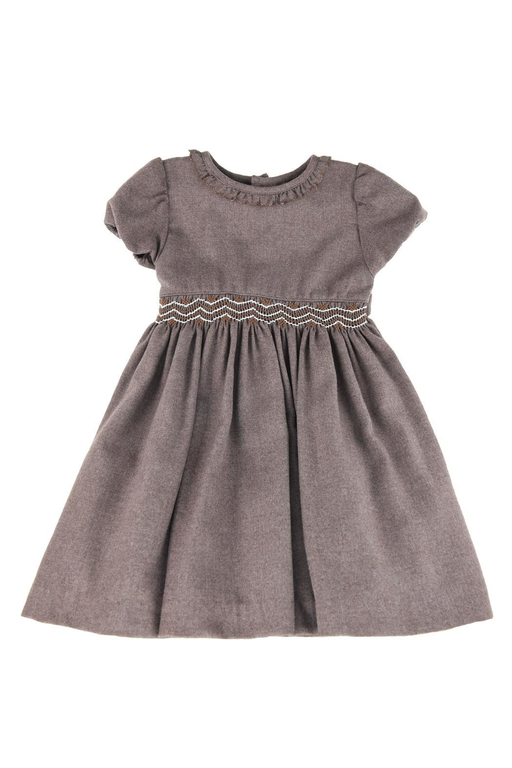 Malvi & Co. Brown Smocked Dress. - Main Image