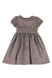 Malvi & Co. Brown Smocked Dress. - Front cropped