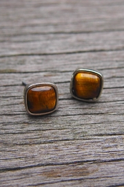 Wild Lilies Jewelry  Brown Square Studs - Product Mini Image