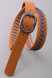 Minx Brown Stitch Belt - Product Mini Image