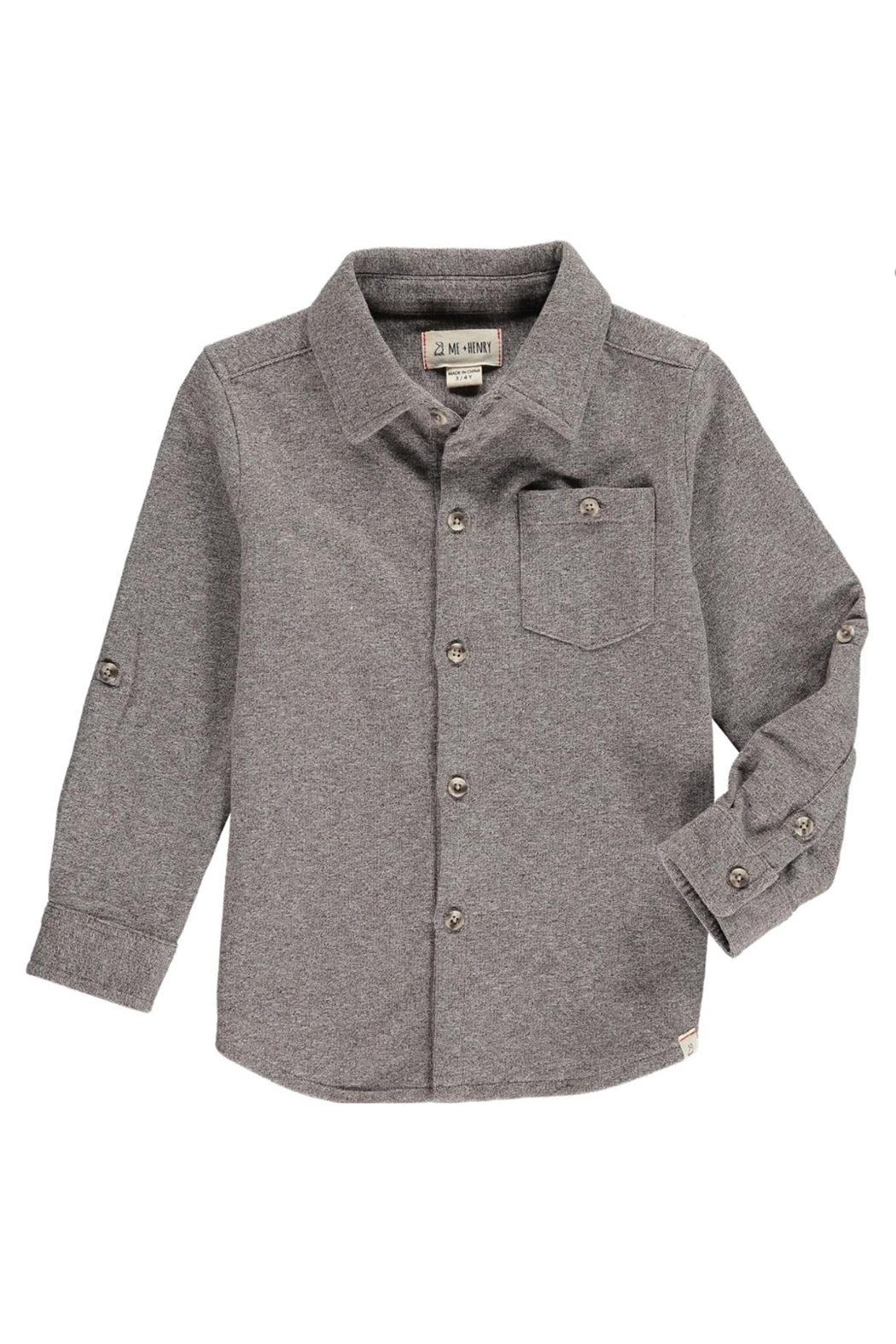 Me & Henry Brown Stretch Jersey Shirt - Main Image