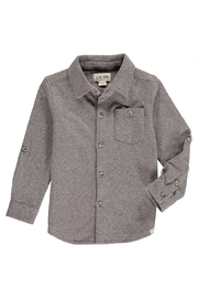 Me & Henry Brown Stretch Jersey Shirt - Product Mini Image