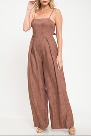 Latiste Brown Stripe Jumpsuit - Product Mini Image