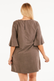 VeryJ Brown Suede A-line Dress - Other