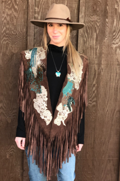 Pat Dahnke Brown Suede Collar w/ Turquoise - Product List Image
