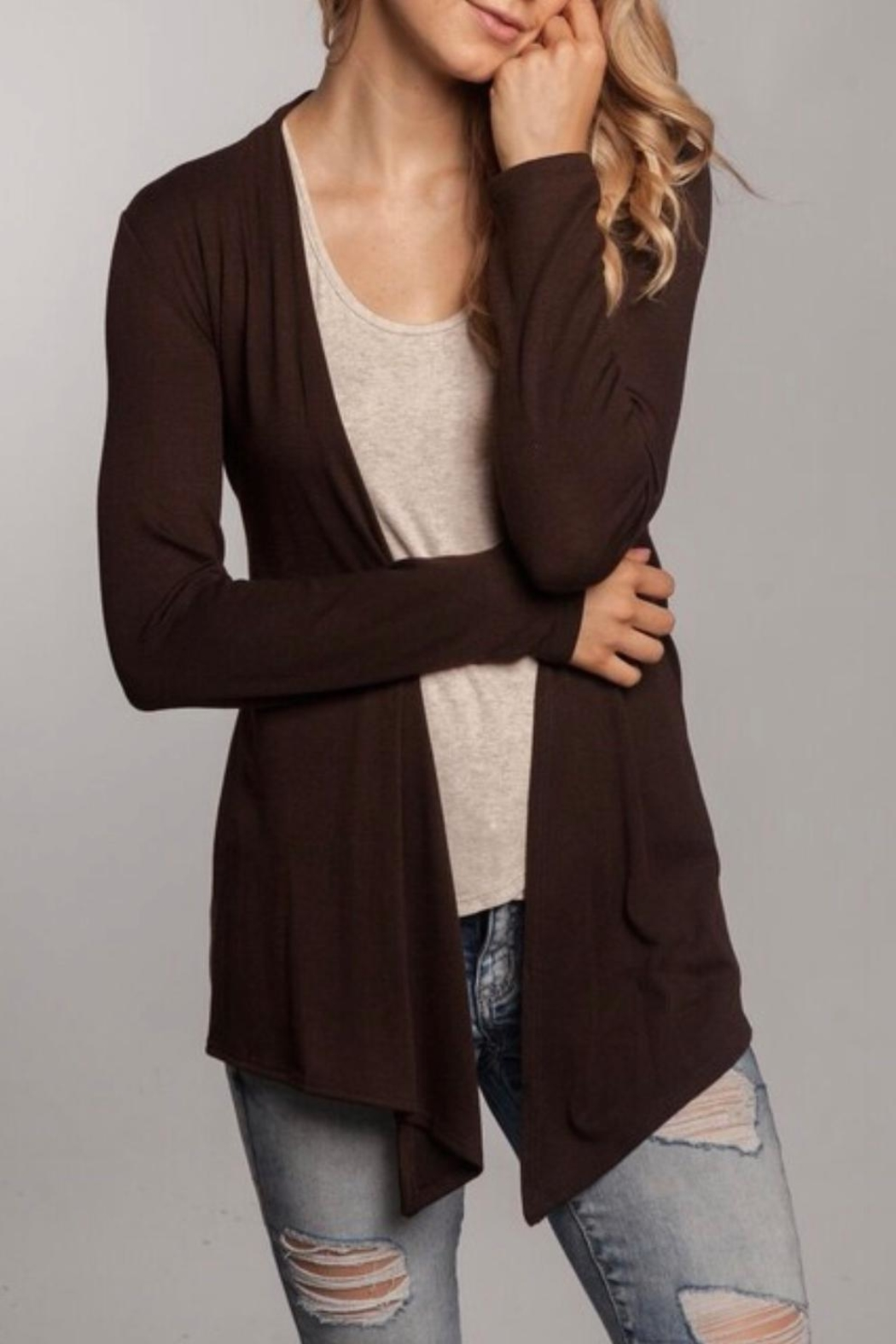 Chris & Carol Brown Sweater Cardigan - Main Image