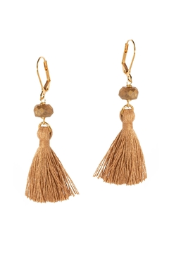 Dana Herbert Brown Tassel Earrings - Alternate List Image