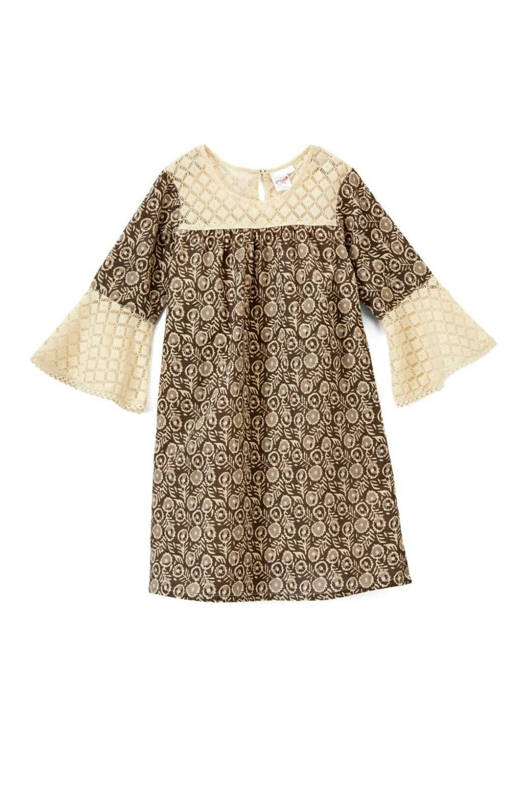 YO BABY Brown Two-Tone Dress - Front Full Image