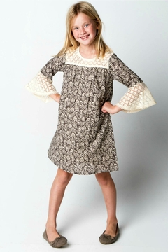 YO BABY Brown Two-Tone Dress - Product List Image