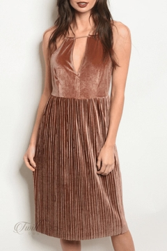 8936211301 Brown Velvet Dress - Alternate List Image Ark & Co. Brown Velvet Dress -  Product List Image. Size