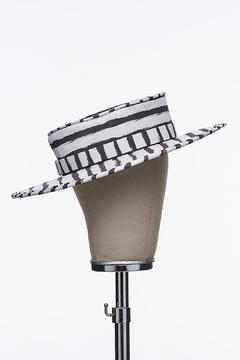 Bruna Abreu Striped Chalk Hat - Alternate List Image