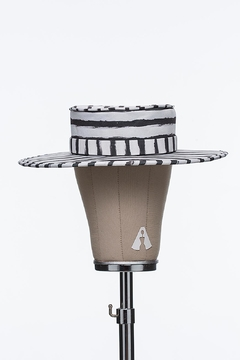 Bruna Abreu Striped Chalk Hat - Product List Image