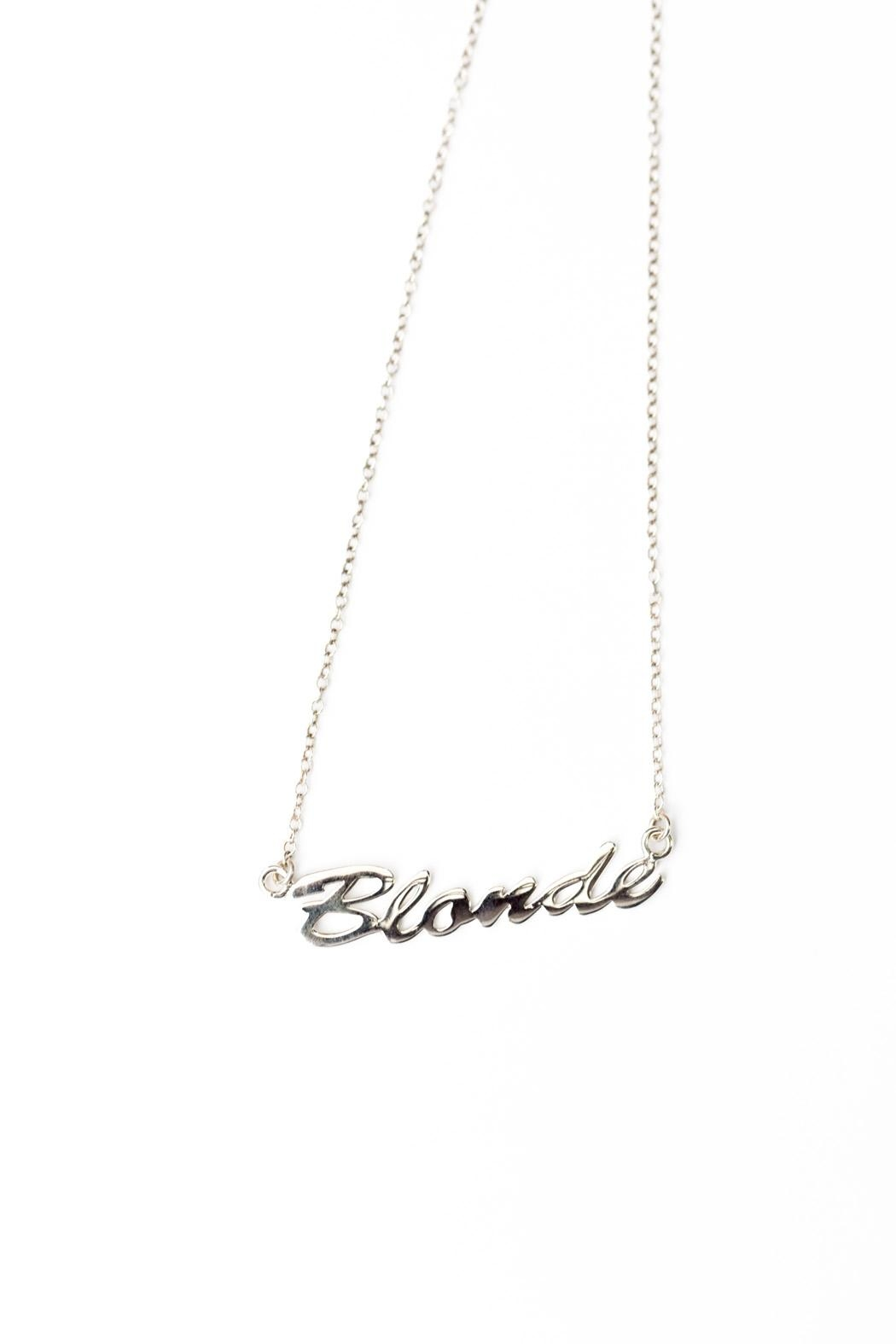 Brunette The Label Blonde Pendant Necklace - Front Cropped Image