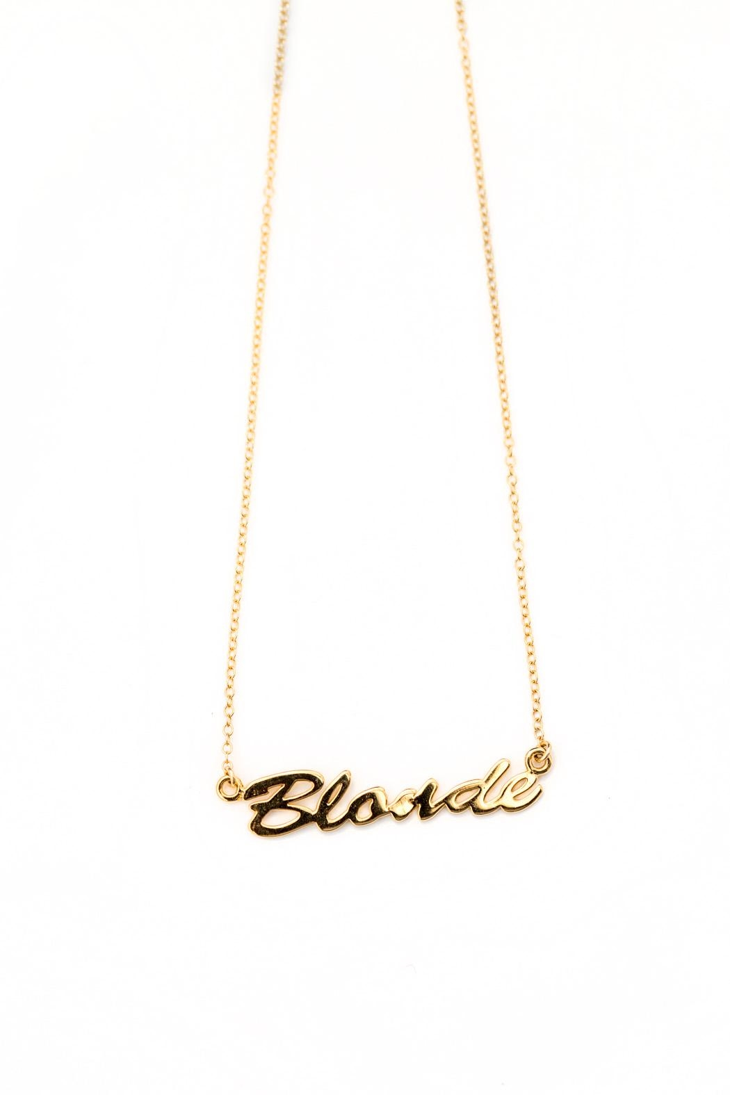 Brunette The Label Blonde Pendant Necklace - Main Image