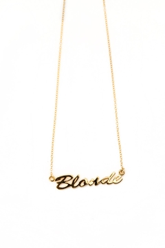 Shoptiques Product: Blonde Pendant Necklace