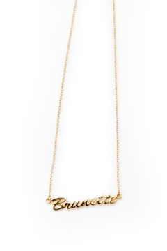 Brunette The Label Brunette Pendant Necklace - Product List Image