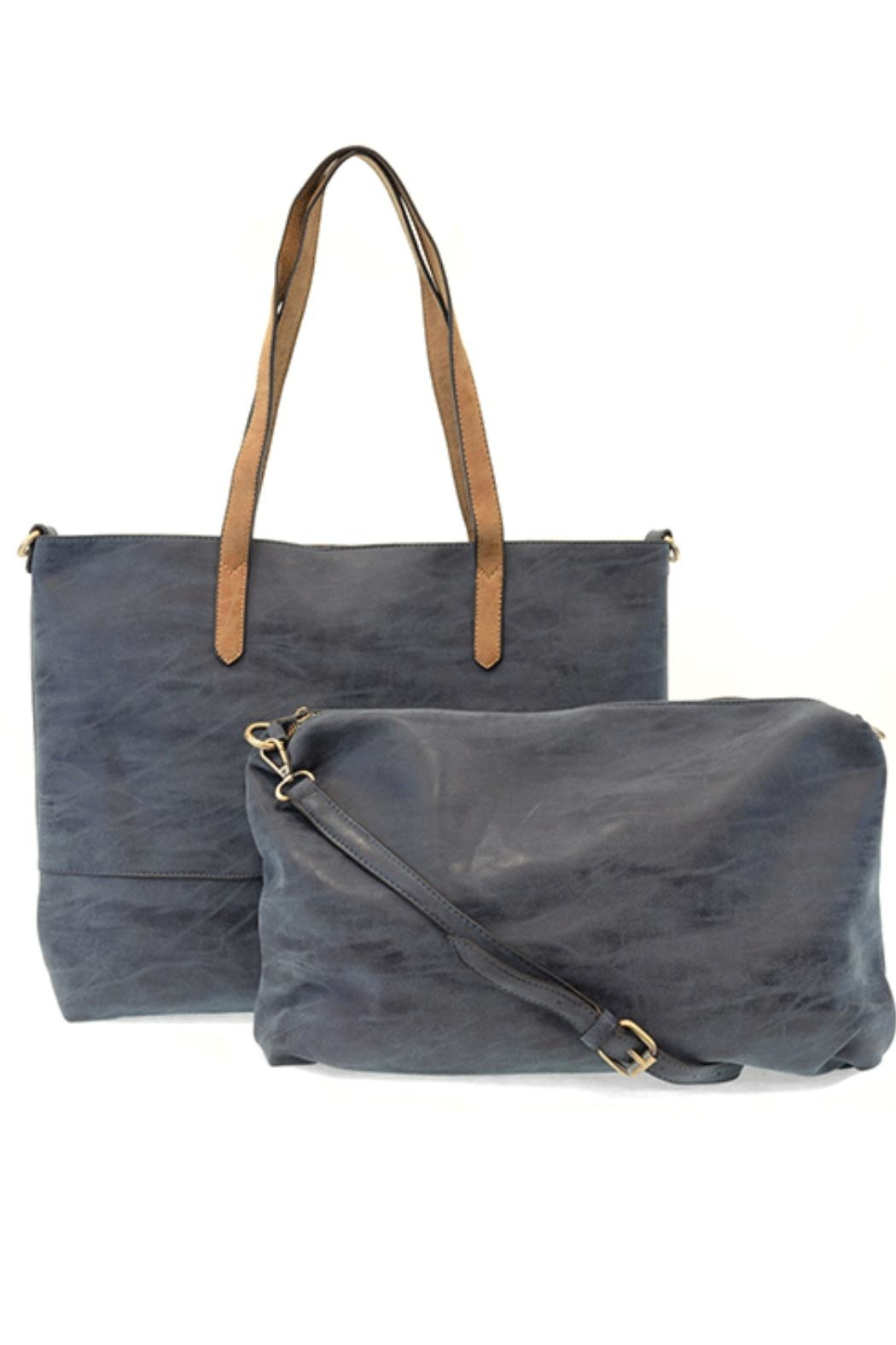 Joy Susan Accessories Brushed 2-In-1 Tote - Front Full Image