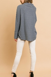 Umgee USA Brushed Asymetrical Cowl - Front full body