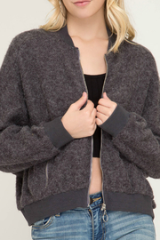 She + Sky Brushed Bomber Jacket - Product Mini Image