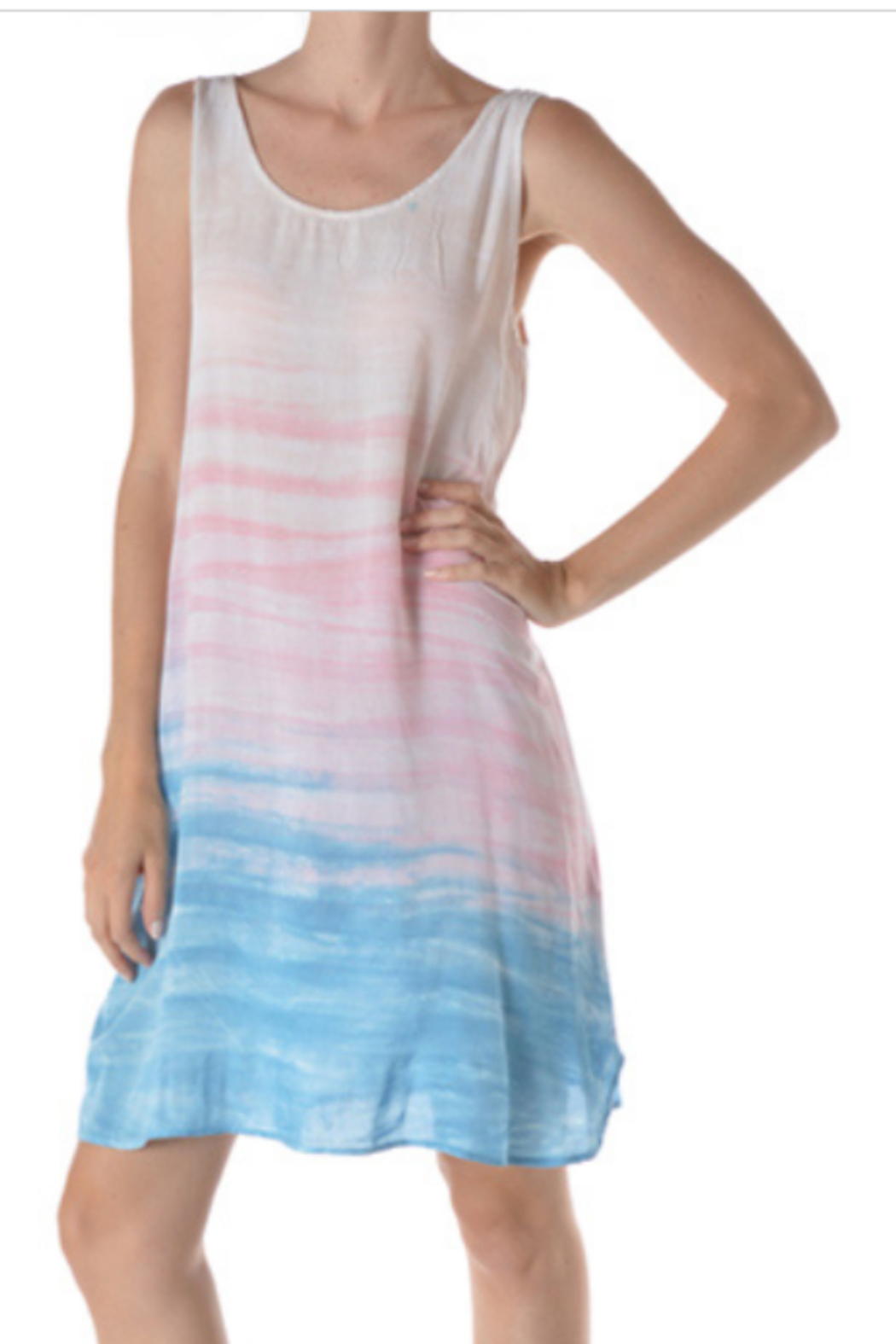 T Party Brushed Dip Dye Dress - Front Cropped Image