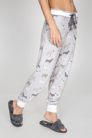PJ Salvage Brushed Dog-Print Bottoms - Front full body