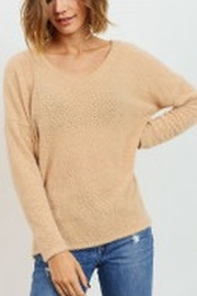 Lyn -Maree's Brushed Eyelash Knit High Low Top - Product Mini Image