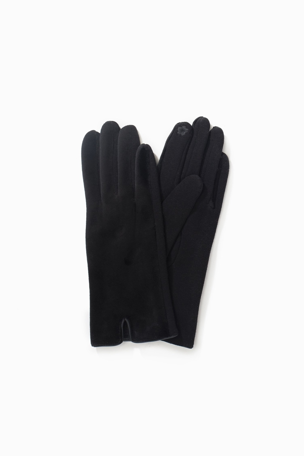 Look by M Brushed Fur Trim Glove - Main Image
