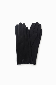 Look by M Brushed Fur Trim Glove - Alternate List Image